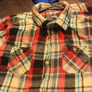 Other - Youth XXL size 18 plaid button down shirt